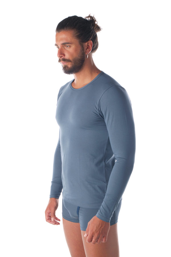 T-shirt in cotone e modal manica lunga