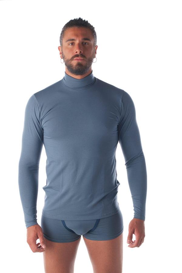 T-shirt in cotone e modal manica lunga 9271