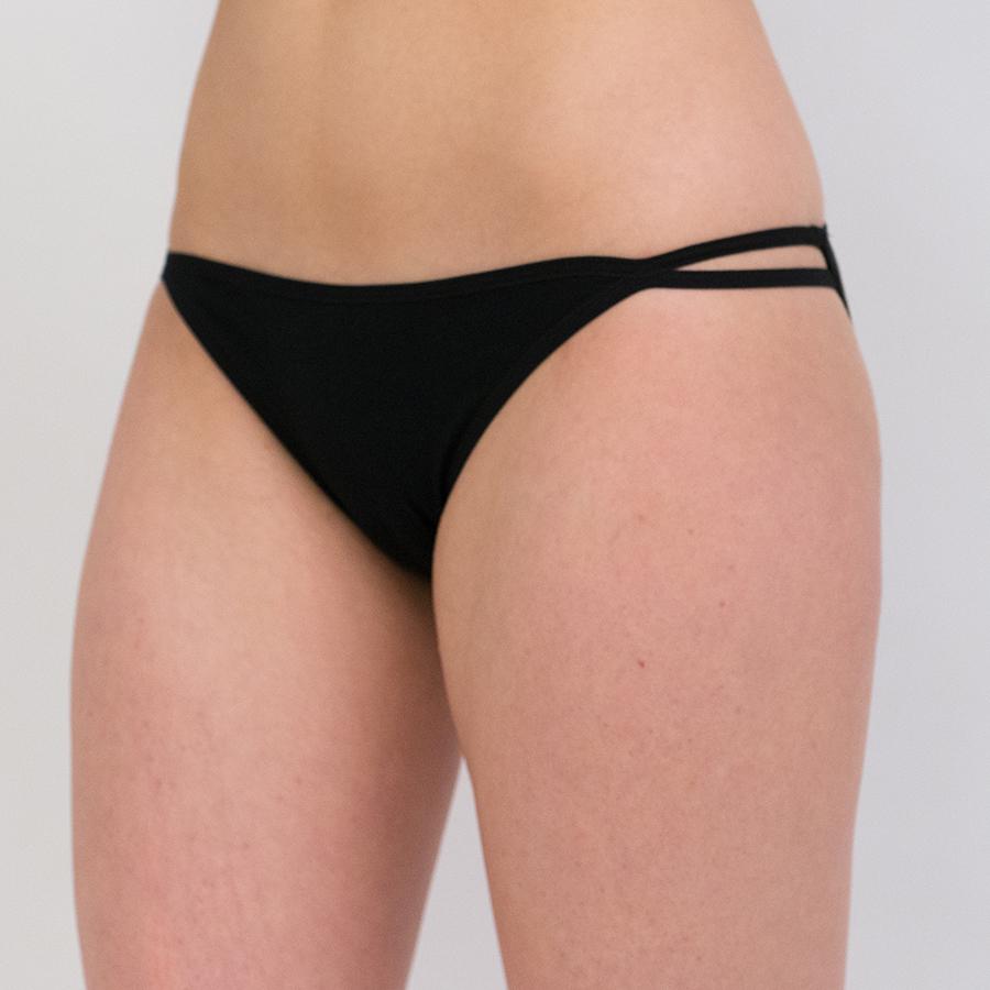 Tanga String Bikini in cotone e modal 4821