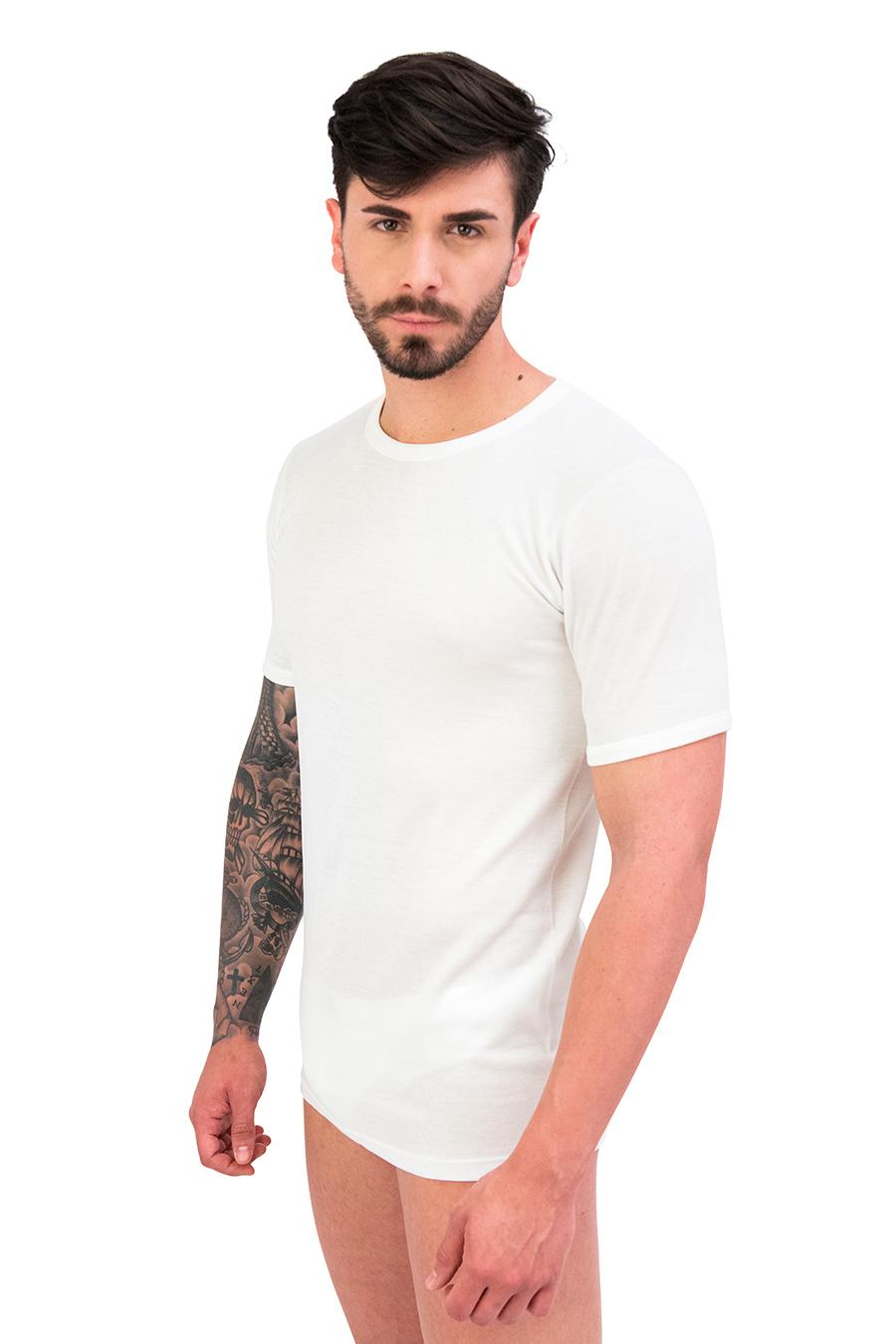 T-shirt dual cotone sulla pelle e lana fuori 9400