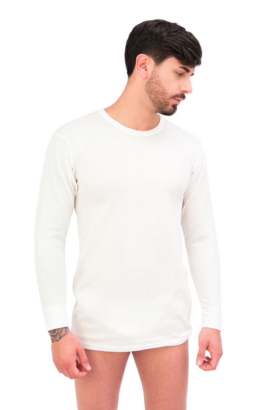 Maglia manica lunga dual cotone sulla pelle e lana fuori 9401