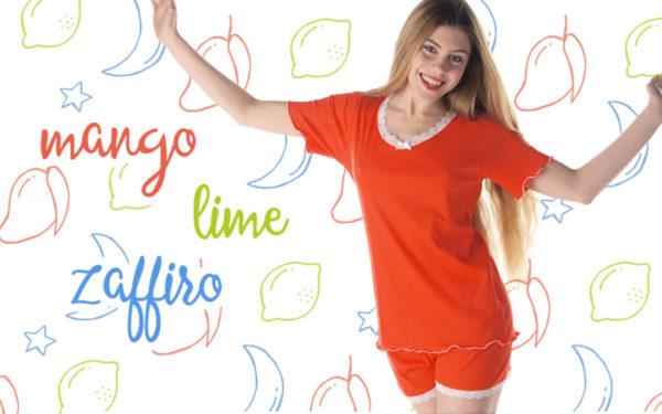nuovi colori pigiami, t-shirt, canotte